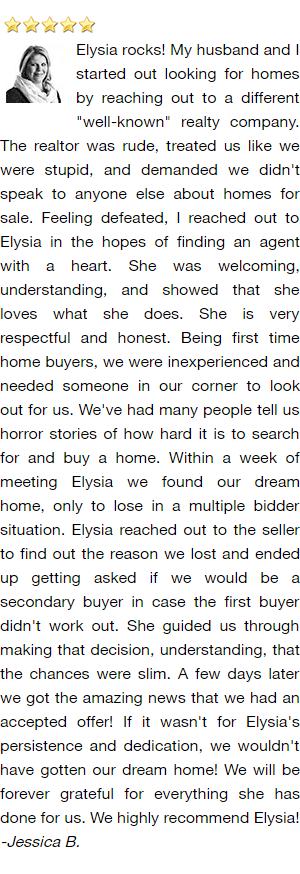 De Pere Realtor Reviews - Jessica B..