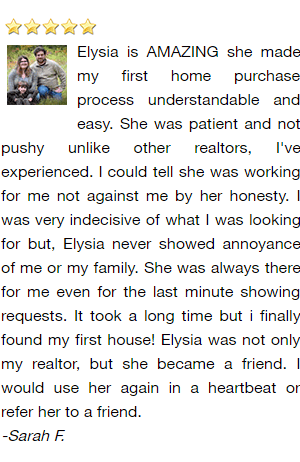 De Pere Realtor Reviews - Sarah F.