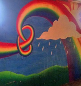 Rainbow walls in Green bay, WI home for sale