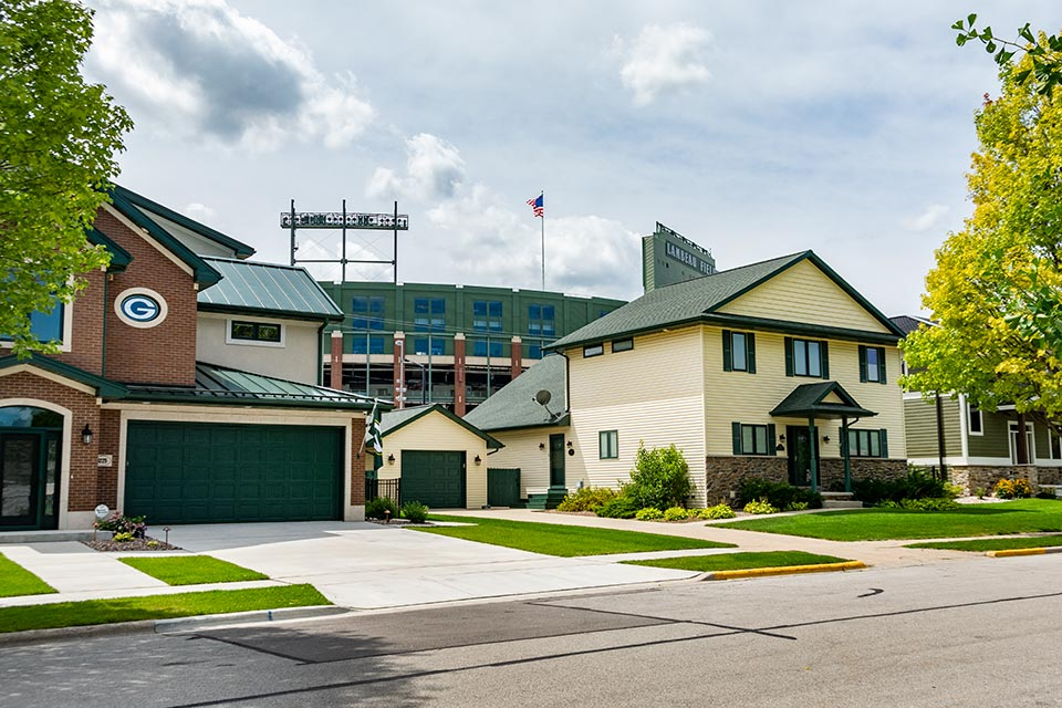Houses Near the Green Bay Packer's Lambeau Field