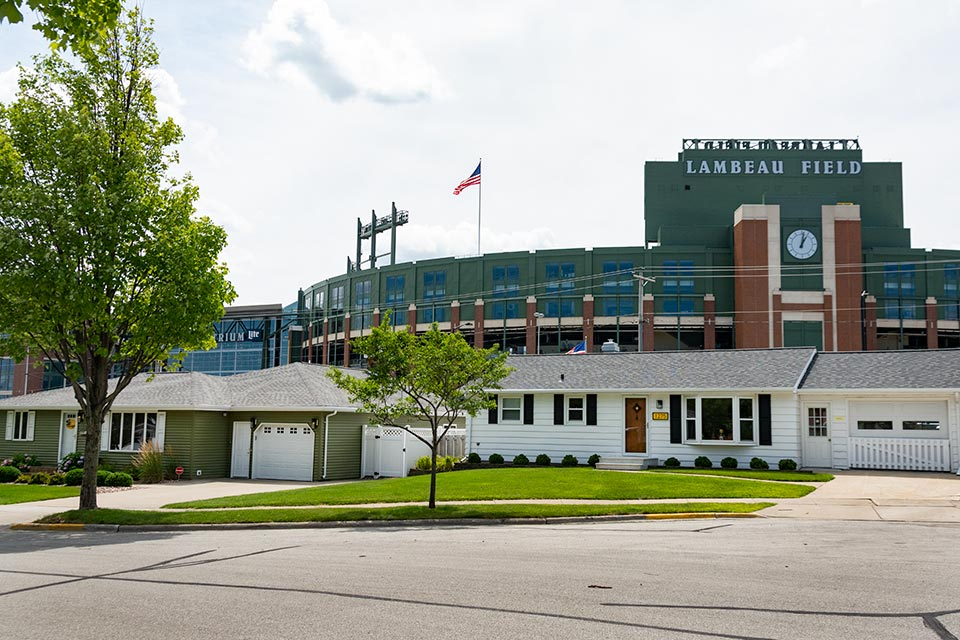 Shadow Ln Houses Near the Green Bay Packer's Lambeau Field