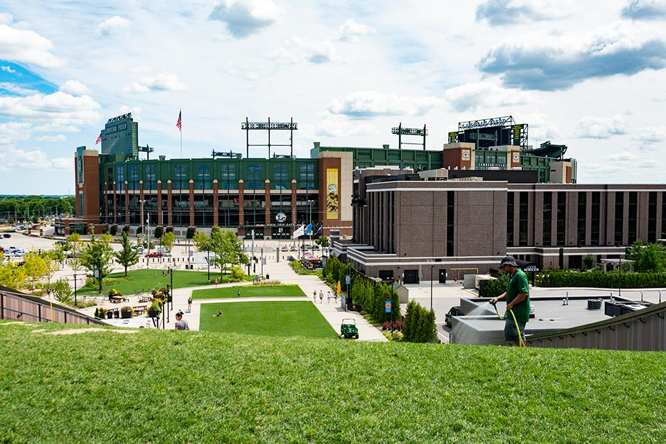 Green Bay Packer's Titletown District and Lambeau Field
